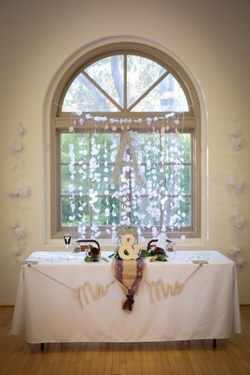 Mr. & Mrs. Sweetheart table