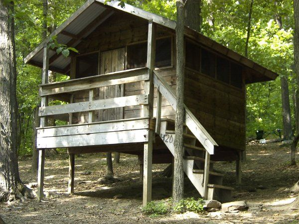 We have 8 tree houses.  They are rustic camping, but up off the ground, if it rains, you will stay...