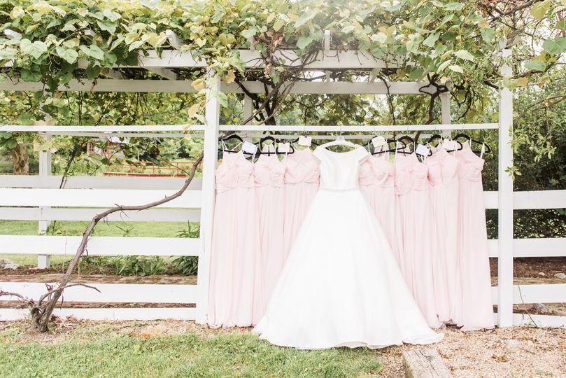 Bride & bridesmaids dresses