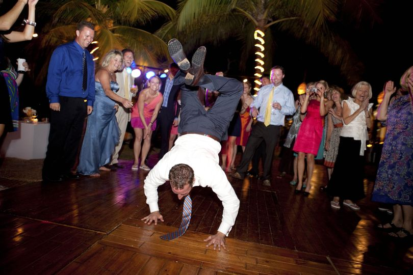 Tearing up the dance floor
