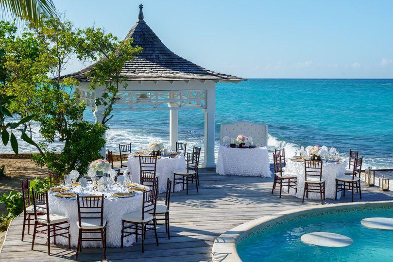 Private island celebration