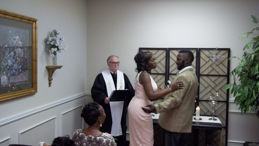 We all had fun at this wedding in our Chapel.