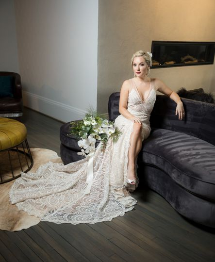 Relaxed bride