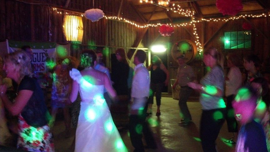 Rocking out at Kristy & Dave's wedding (2012)