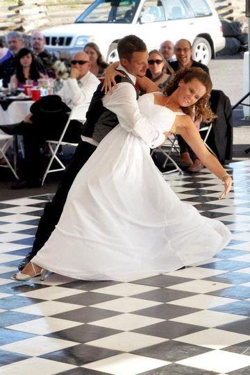 Brad & Michele's first dance.   Dance music provide by Heart of Rock DJ.