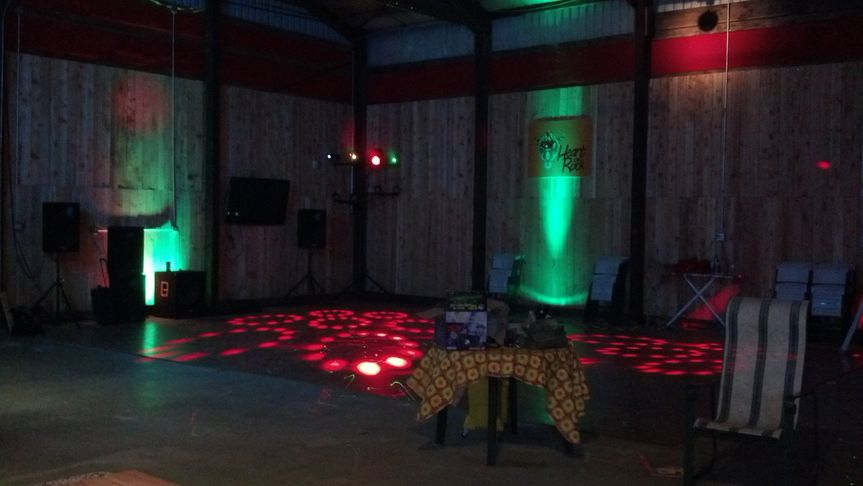 The dance floor at Heart of Rock Farm.