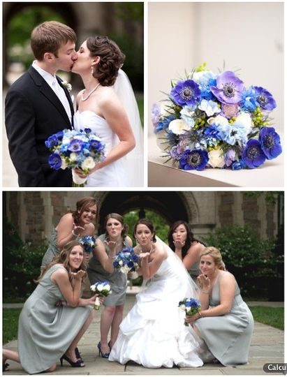 Go Blue Bouquet www.sweetpfloral.com