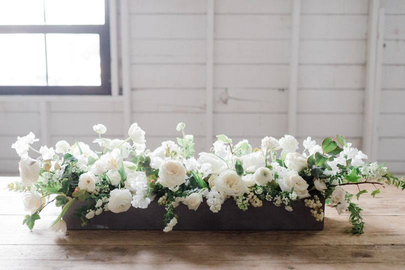 Sample white flower arrangement