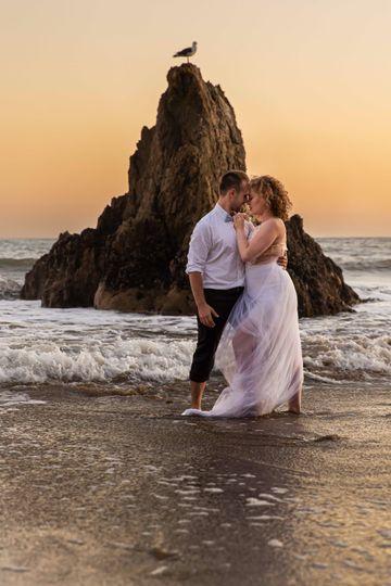Engagement Beach LA Photo