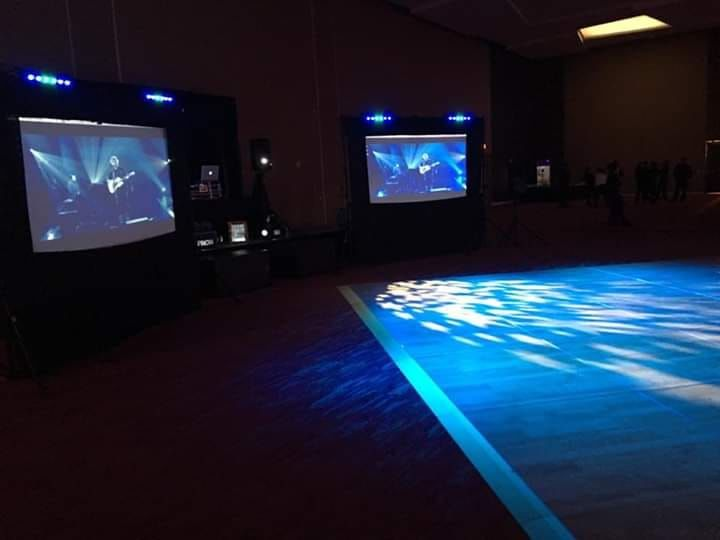 Dance floor with lighting