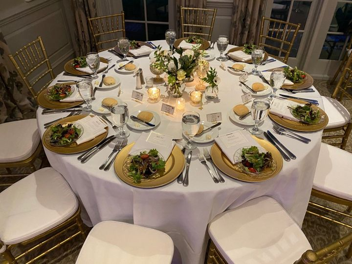 Weddings and Vow White Table