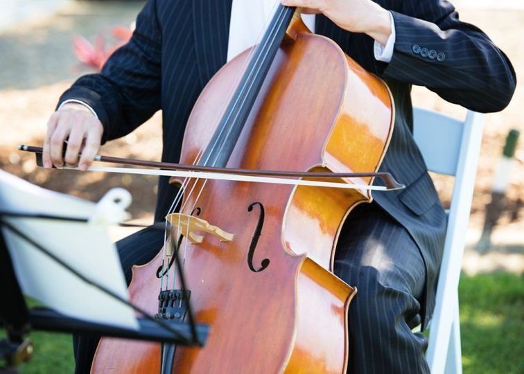 Cello during a wedding