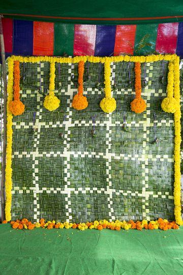 Groom ceremony decoration