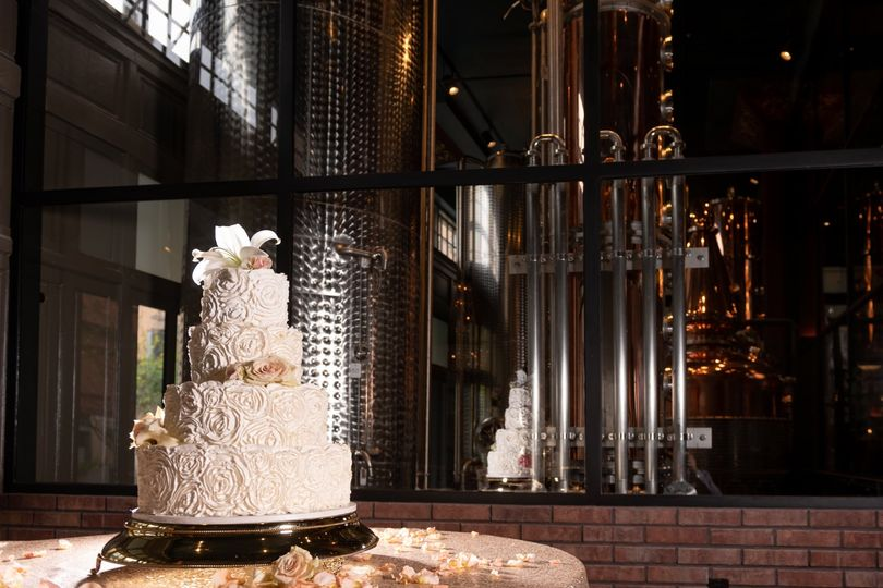 Cake table at reception