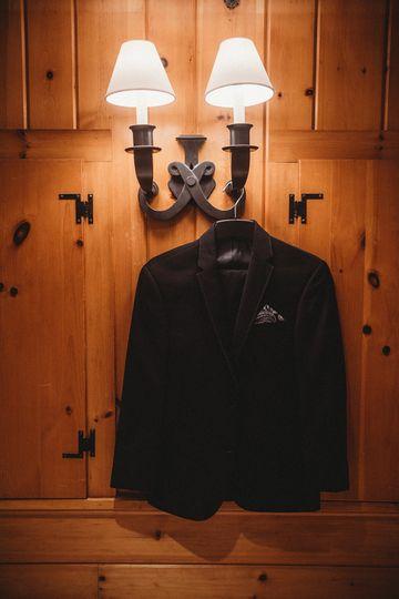 Groom's suit jacket