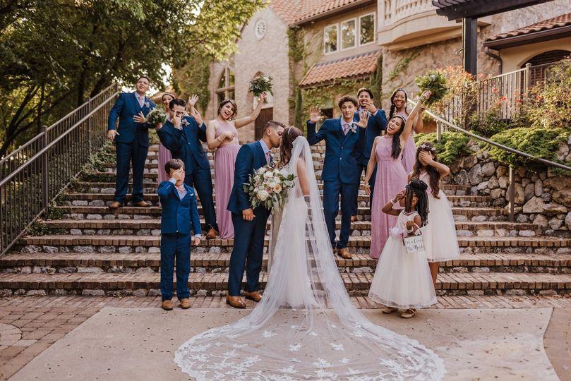 Wedding Party cheering
