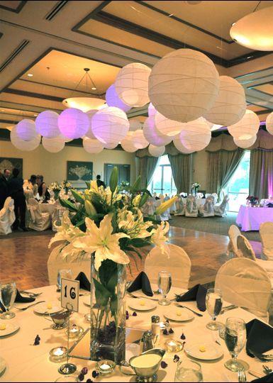 Beautifully designed wedding reception