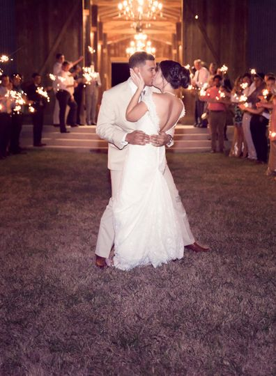 Sparklers for the first dance