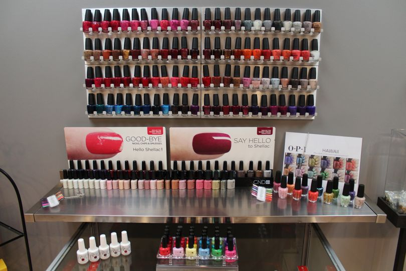 We offer a full line of OPI nail polish and Shellac gel polish...the best the industry has to offer!