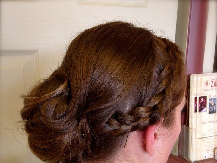 Tmx 1430154992557 Szauburnbraidlowbun Wilmington, DE wedding beauty