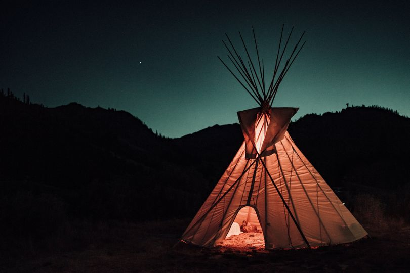 Cozy vibes in the teepee
