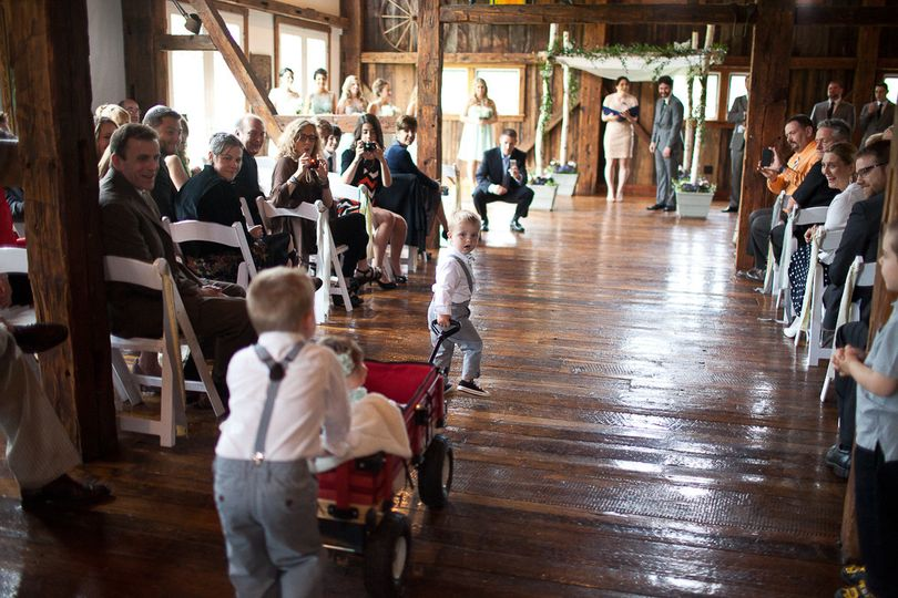 Ring bearers enter