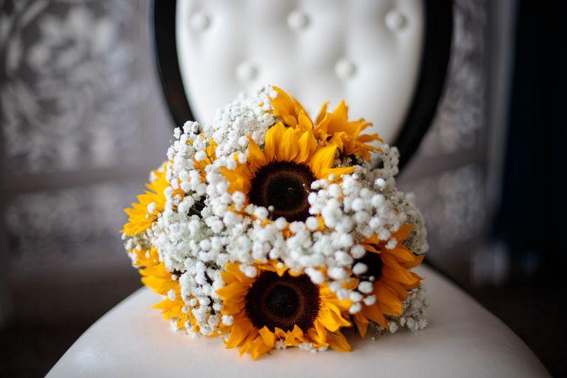 A sunflower bouquet