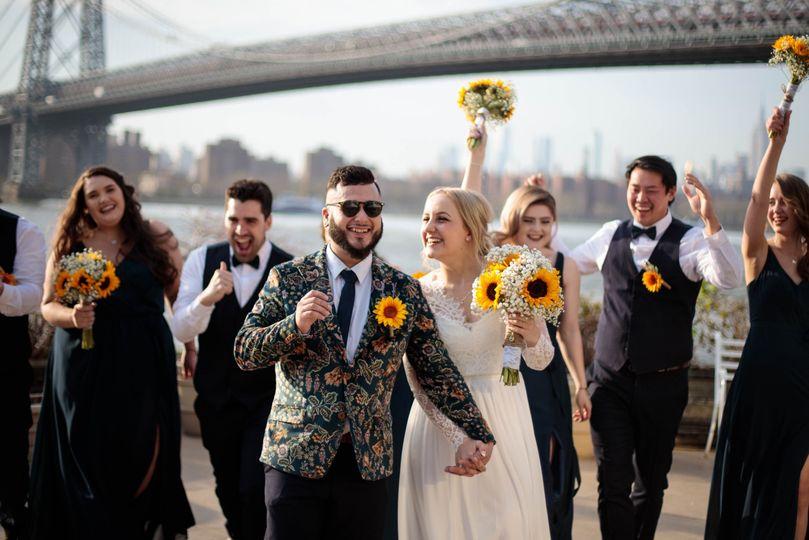 Bridal party joy!