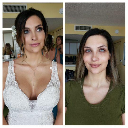 Bride Jalea hair and makeup