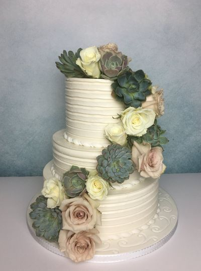 Roses, succulents