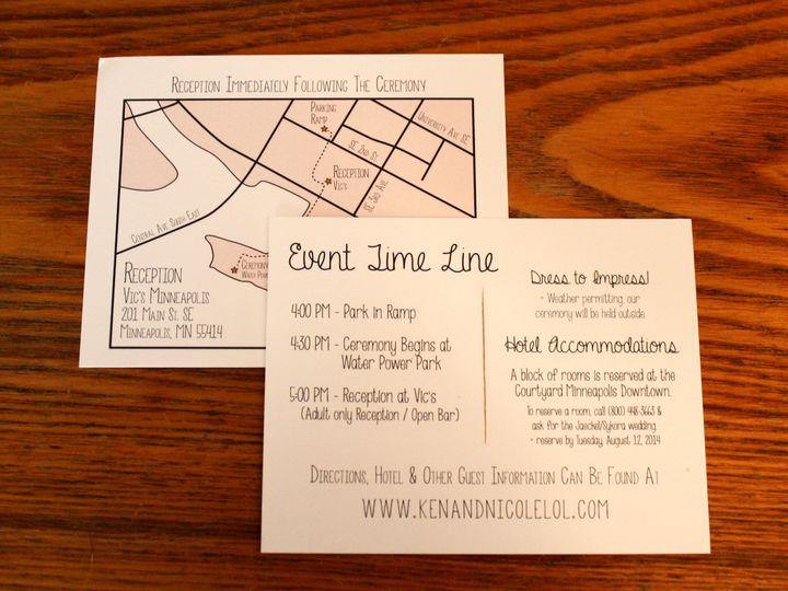 Tmx 1416280866199 Invite3 Minneapolis wedding invitation