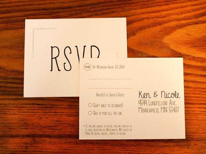 Tmx 1416280881371 Invite4 Minneapolis wedding invitation