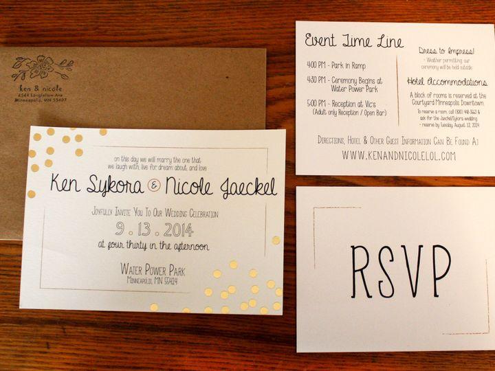 Tmx 1416280897059 Invite5 Minneapolis wedding invitation