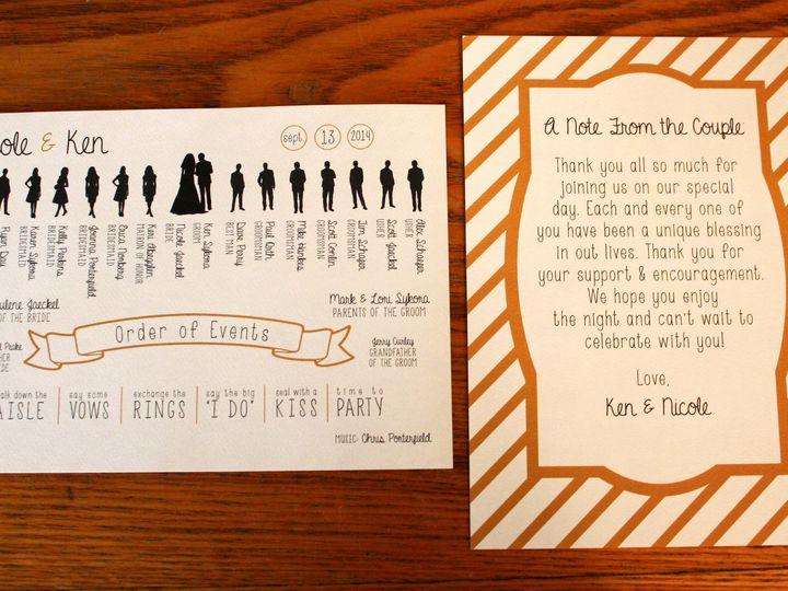 Tmx 1416280913280 Weddingprogram Minneapolis wedding invitation