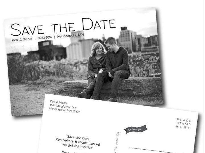 Tmx 1416281619467 Save The Date Minneapolis wedding invitation
