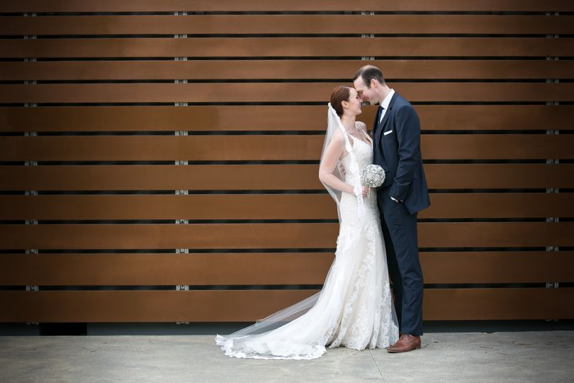 Newlyweds at Notre Vue
