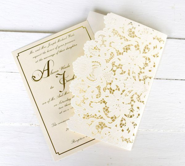 Gold foil and lace