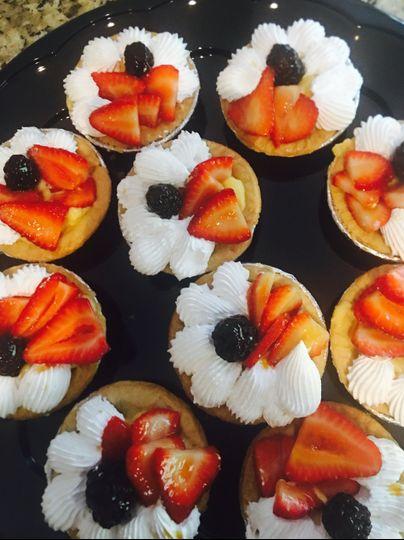 Fresh fruits tarts