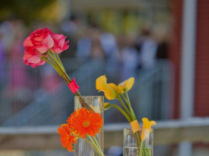 Tmx 1415489899042 Brittany Centerpiece Yellow Orange Pink For Websit Reisterstown, MD wedding florist