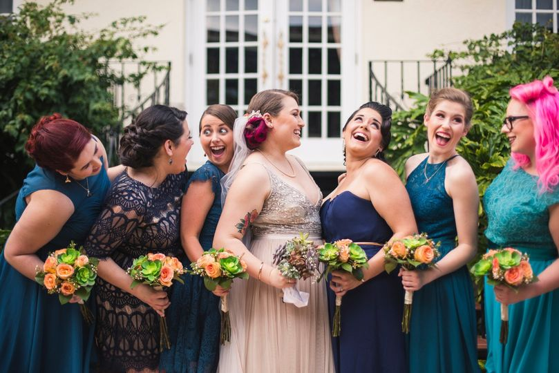 Meagan's bridesmaids