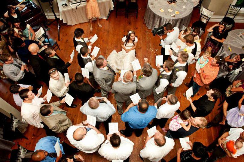 Serenading the bride