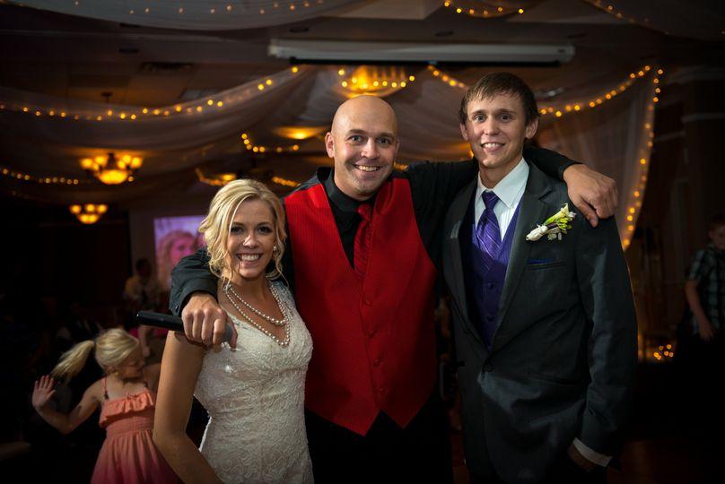 Dj zato with the newlyweds