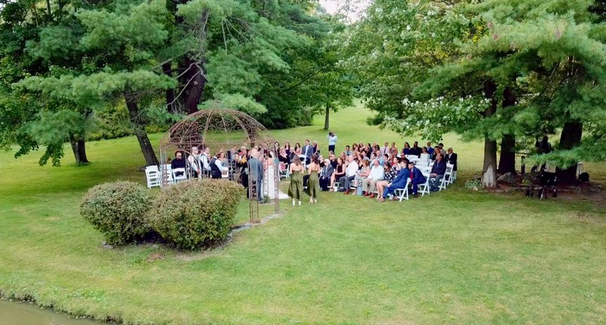 Panoramic view of the ceremony