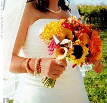 Tmx 1369060231402 Sunflowerbouquet Lockport wedding florist