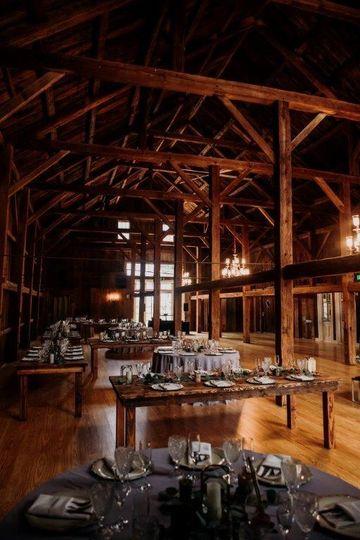 Antique barn interior