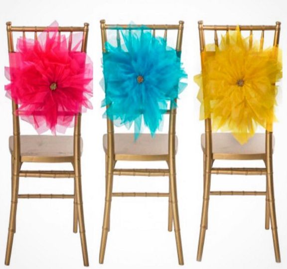 Chairs with large flowers