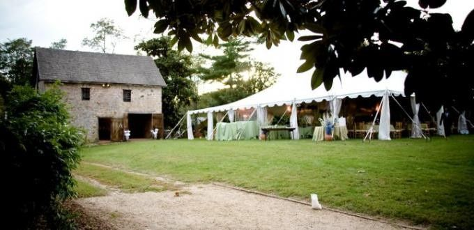 Outdoor Tented Barn Reception