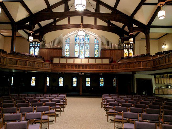 Rear view of sanctuary