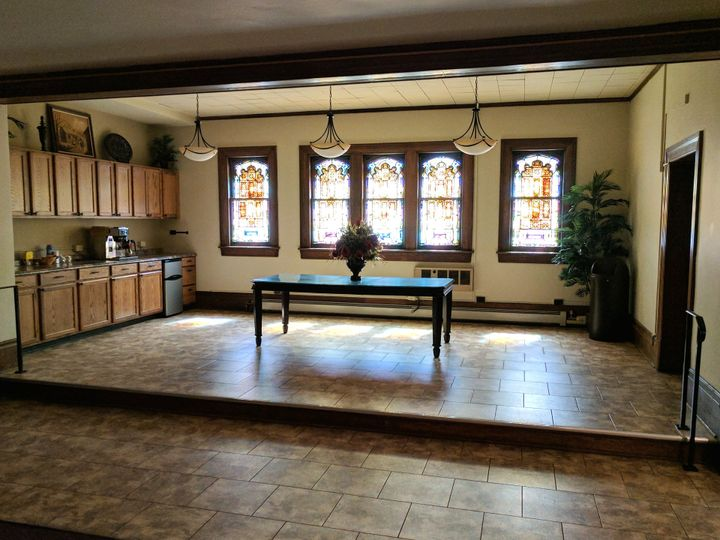 Cafe space within sanctuary