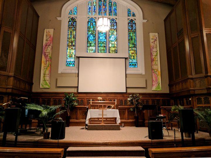 Front view of sanctuary